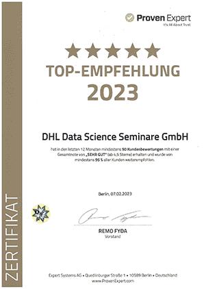 Auszeichnung TOP-Empfehlung 2020 von ProvenExpert.com